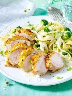 Hähnchenfilet mit Pasta und Brokkoli