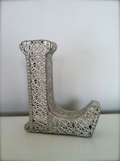 Silver Filigree Letter L by TheVintageBeach on Etsy, $55.00