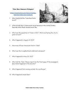 Tulsa Race Massacre Webquest by Middle School History Travelers | TpT Middle School History, Teaching History, Teacher Newsletter, Curriculum, Racing, Resume, Running, Auto Racing