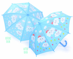 colour changing raindrops and clouds umbrella by posh totty designs interiors | notonthehighstreet.com £15