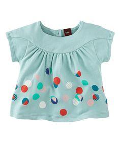Look at this Light Aqua Dagmar Dots Top - Infant on #zulily today!