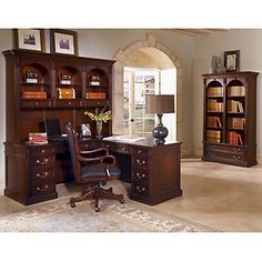 corner desk traditional home office garnet cherry executive office grouping set cherry office furniture