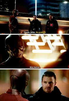 The Flash - Barry & Oliver #1x22 #Season1 #Flarrow