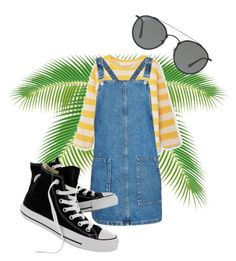 Summer by thefaang on Polyvore featuring polyvore, fashion, style, Topshop, Converse, Ray-Ban and clothing #summer