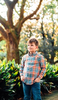 Your little one will stand out in the Ocoee Washed Plaid Dress Shirt! #southernmarsh