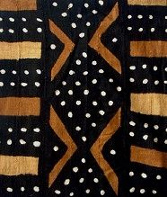 Bogolan (or mudcloth) The work of Boubacar Doumbia from Mali