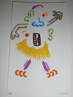 4-27-2015 Abstract cartoon character ( Mr potato head style ) Picasso