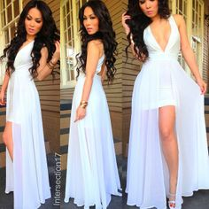 Cute white dress for the spring