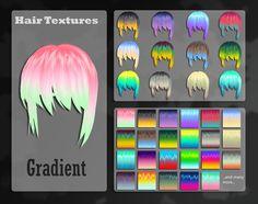MMD Gradient Hair Texture  by *Lobbie89