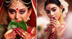Bengali Wedding Tradition Bengali Bride, Bengali Wedding, Bangle Ceremony, Wedding Function, Makeup Trends, Bridal Makeup, Regional, Hair Makeup, Halloween Face Makeup