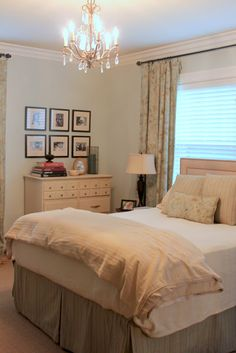 The master bedroom was painted in Sherwin Williams Sea Salt and we added a hint of color to the ceiling with Sherwin Williams Kilim Beige. ...