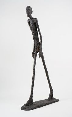 "Alberto Giacometti, ""Homme qui marche I /Walking Man I"", 1960 Alberto Giacometti, Guggenheim Museum Bilbao, Walking Man, Kindergarten Art Projects, Famous Art, Paul Gauguin, Art Deco Wedding, Living Room Art, Art Club"
