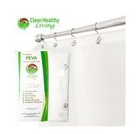 Great choice for a non-toxic PEVA shower curtain liner. NO PVC toxic smell. (affiliate)