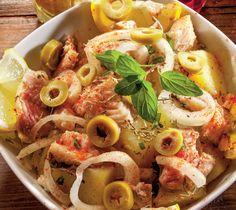 Salată cu pește afumat | | Rețete | Libertatea pentru femei Pasta Salad, Yummy Food, Lunch, Chicken, Ethnic Recipes, Crab Pasta Salad, Delicious Food, Eat Lunch, Lunches