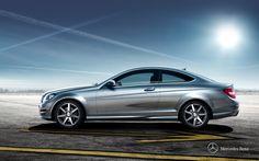 Mercedes-Benz C-Class Coupe. Fuel consumption combined: 12,0-4,1 l/100km, CO2 emissions combined: 280-109 g/km.  #MBCars