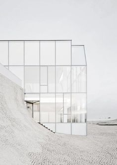 glass minimalist facade Steven Holl Architects, Museum of Ocean and Surf, Biarritz, France Houses Architecture, Architecture Design, Minimal Architecture, Concept Architecture, Amazing Architecture, Contemporary Architecture, Steven Holl Architecture, Gothic Architecture, Surf Biarritz