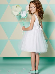 Tulle & Cotton Satin Special Occasion Dress, Girls | Vertbaudet