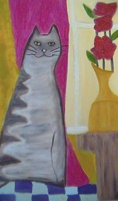 gato engasgado