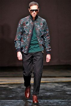 @-- Flower Pattern --@ This jacket is the what makes all the colours of this outfit come together. Oliver Spencer AUTUMN/WINTER 2014-15    LONDON