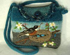 needle felt purse – Etsy CA