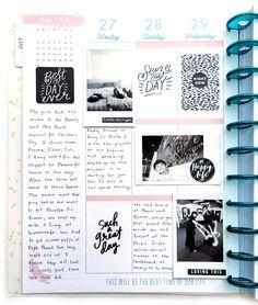 black & white memory keeping in The BIG Happy Planner™ of mambi Design Team member Theresa Doan | me & my BIG ideas