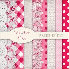 Free Winter Kiss paper pack from Scrap Dot