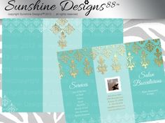 Spa Brochure Template Salon Instant Download