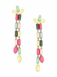Cercei lungi, multicolori Paris Summer, Meli Melo, Sicilian, Summer Collection, Beaded Bracelets, Holiday, Jewelry, Vacations, Jewlery