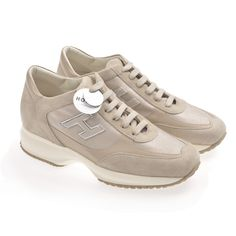 Hogan Sneakers mit H-Relief in Beige