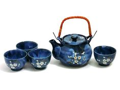 Indigo Dream Tea Set - Japanese Cherry Blossom Collection