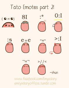 Aww yus (◕ ʜ ◕ ) Tato Emotes Part 2... where's part 1 hmmm? ~Shun