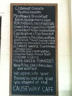 The Causeway Cafe in Wrightsville Beach, NC.....awesome breakfasts!