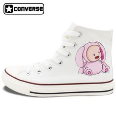 69.30$  Watch now - http://alijzw.worldwells.pw/go.php?t=32788508897 - White Converse All Star Design Babies with Lovely Animal Costumes Flats Lace Up High Top Canvas Shoes Personalized Gifts