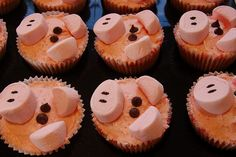 Easy Pig Cupcakes by domesticali