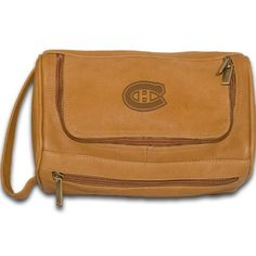 NHL Montreal Canadiens Tan Leather Deluxe Shaving Bag by Pangea Brands. $36.75. Vacquetta leather is soft to the touch, natural in appearance and hand-   crafted to produce an elegant, authentic style which complements those who carry it -bold in texture, classic in design and individual in nature.    One large main compartment holds all your toiletries, with front zip pocket for smaller items. Outside loop handle. Our soft, rich vacquetta leather displays all the c...