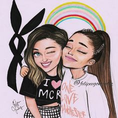 """10.1k Likes, 400 Comments - Felipe Gonzalez (@felipeegonzalez) on Instagram: """"Cute cartoon of @arianagrande and toulouse bc valentines day is not only for lovers! // Pls tag…"""""""