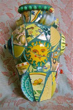 China Girl Vase by Norma Ryan