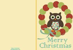 My Owl Barn: Printable Christmas Cards