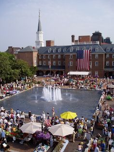 City Hall in Old Town Alexandria, VA on a Saturday morning is bustling with activity, music and fun!