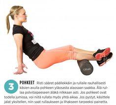 Jumit auki putkirullalla: 9 tehokasta liikettä   Me Naiset Pilates, Pop Pilates, Pilates Workout