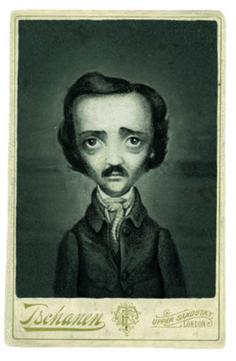 benjamin lacombe | Retrato de Poe según Benjamin Lacombe