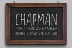Font of the day: Chapman is a handwritten display font, and it's free for this week only!