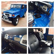 Absolutely Stunning Blue 1982 Toyota Landcruiser FJ40 Restoration