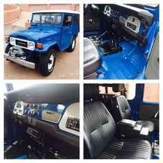 Absolutely Stunning Blue 1982 Toyota Landcruiser FJ40 Restoration