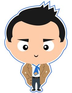 Castiel the Angel from Supernatural. But if you needed me to say he was an angel, shame on you!  Check out all our other Supernatural clipart characters in our new Etsy shop.