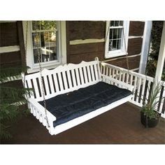 Amish Made Pine Wood Royal English Garden Swing Bed - Painted  possible for Ryan s birthday