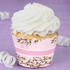Baby Cherry Blossom - Baby Shower Cupcake Wrappers