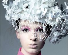 Papercraft Headwear  Katsuya Kamo Completes Chanel's Spring 2009 Look With Copy Paper Tiaras