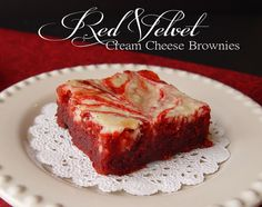 Red Velvet Cream Cheese Brownies...heaven in every bite.