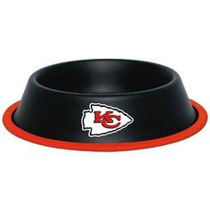 Kansas City Chiefs Stainless Dog Bowl  15% Discount - Use code DOGGIE at Checkout   http://www.gingersdoggieheaven.com #KansasCityChiefs 15% Discount - Use code DOGGIE at Checkout